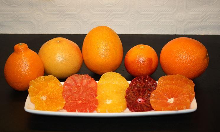 Varie tipologie arance