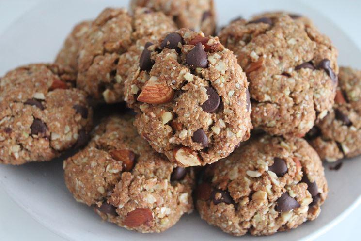 Esempio biscotti con scaglie di cioccolato