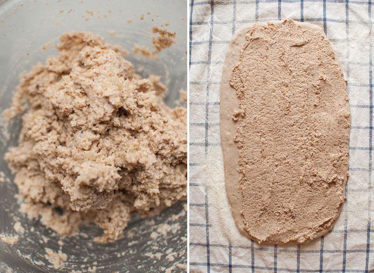 Impasto con farina di farro decorticato bio