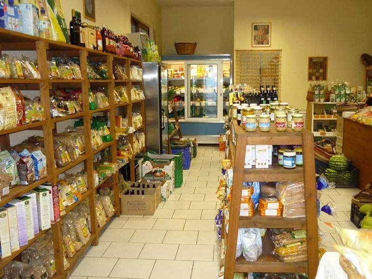 Un negozio di prodotti bio