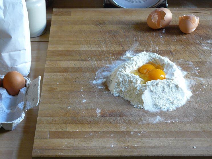 Chiacchiere senza glutine ingredienti da impastare