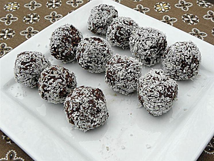 Dolcetti di cacao e cocco