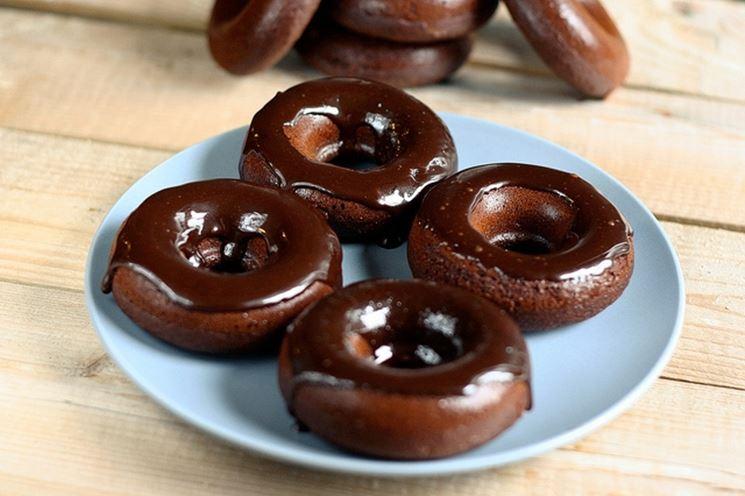 Ciambelle con cioccolato senza glutine e lattosio