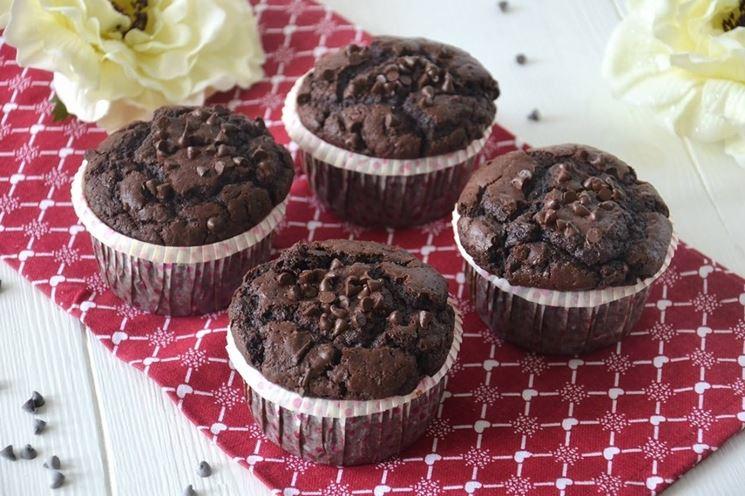 Muffin al cioccolato fatti con ricette senza latte