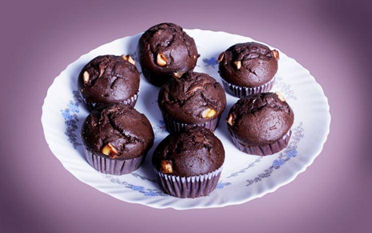 Deliziosi muffin al cioccolato vegani