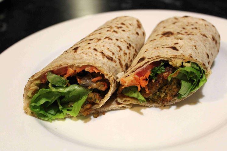 Piadina kebab vegano