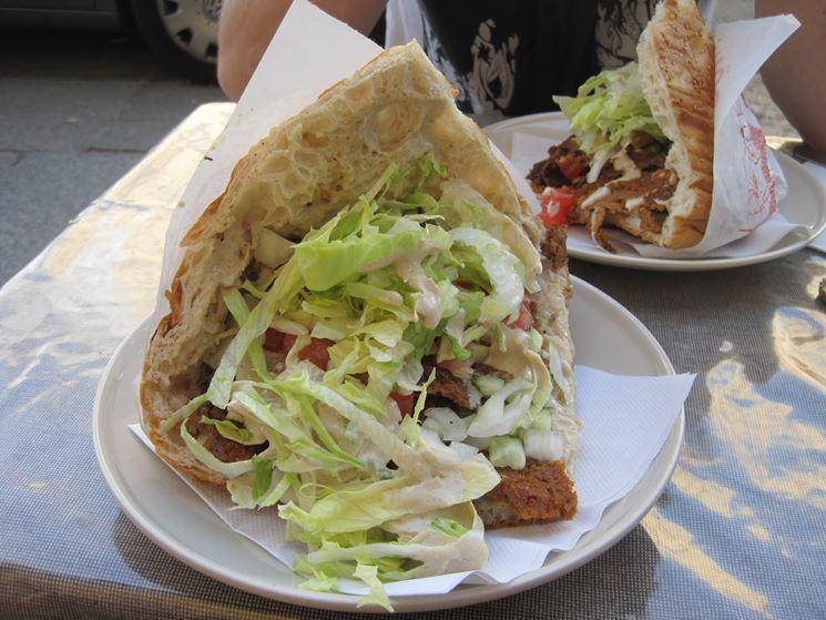 Pita kebab vegan