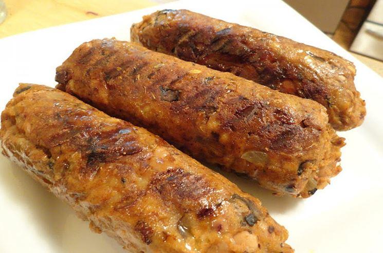 Esempio di salsiccia vegana