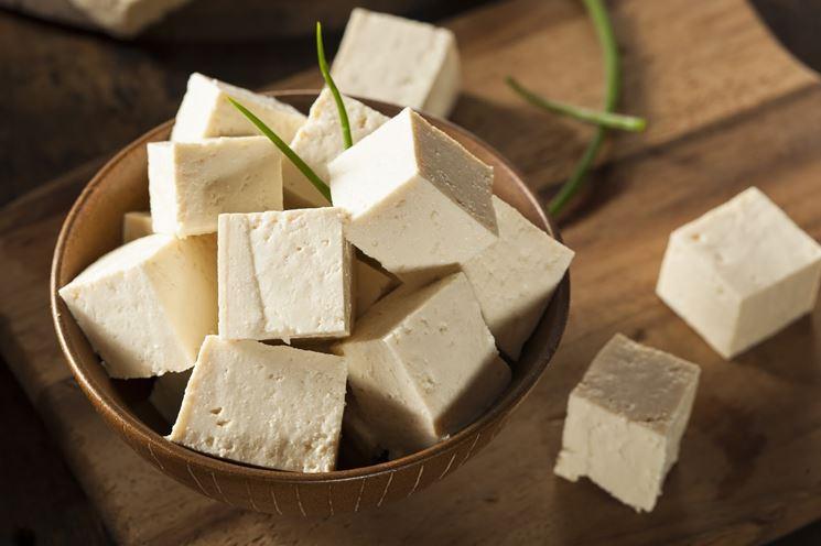 Tofu in pezzi