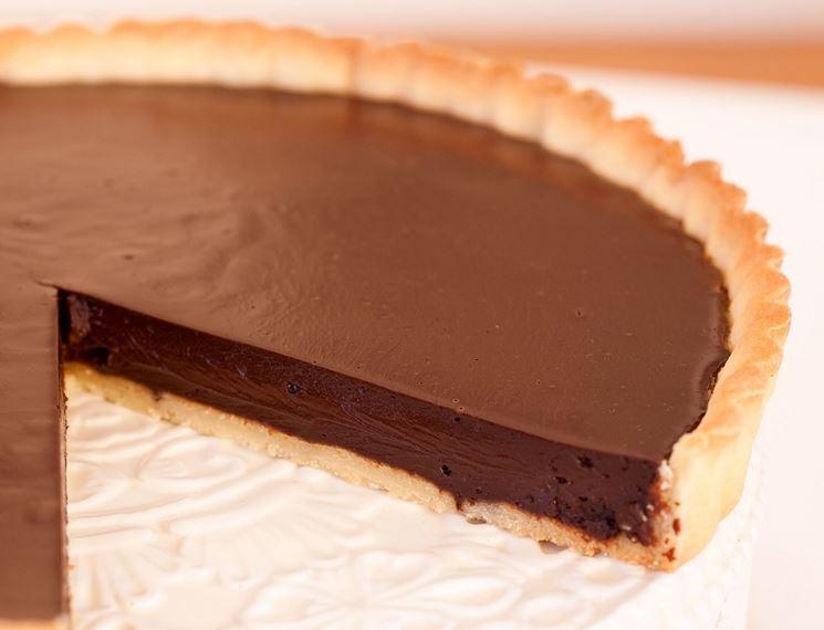 Crostata vegana alla crema di cioccolato